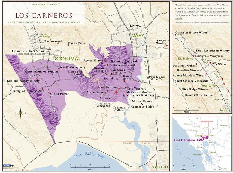 Carneros Map Simply Driven