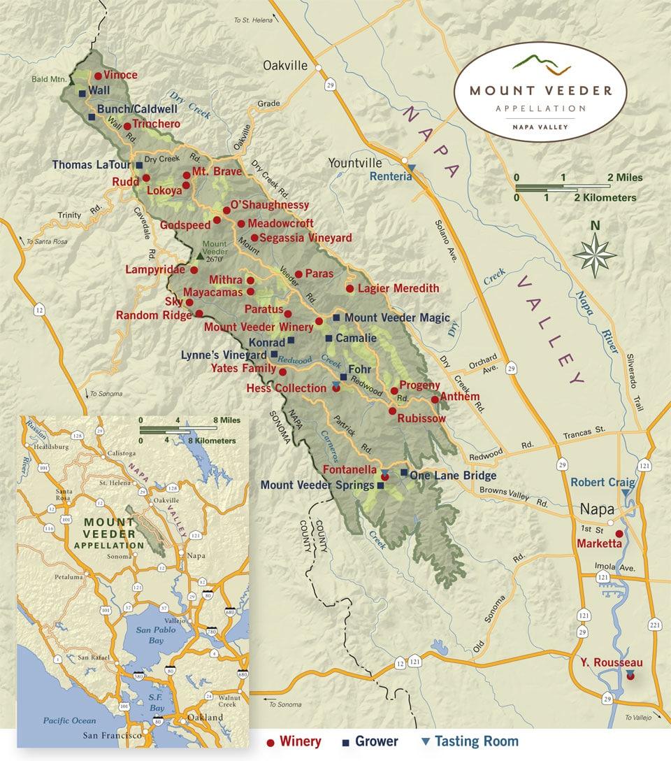 Mount Veeder Map