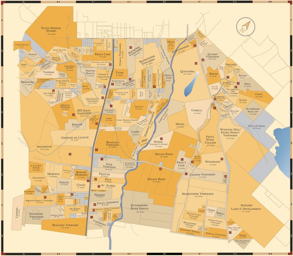 Rutherford wine tours map Simply Driven
