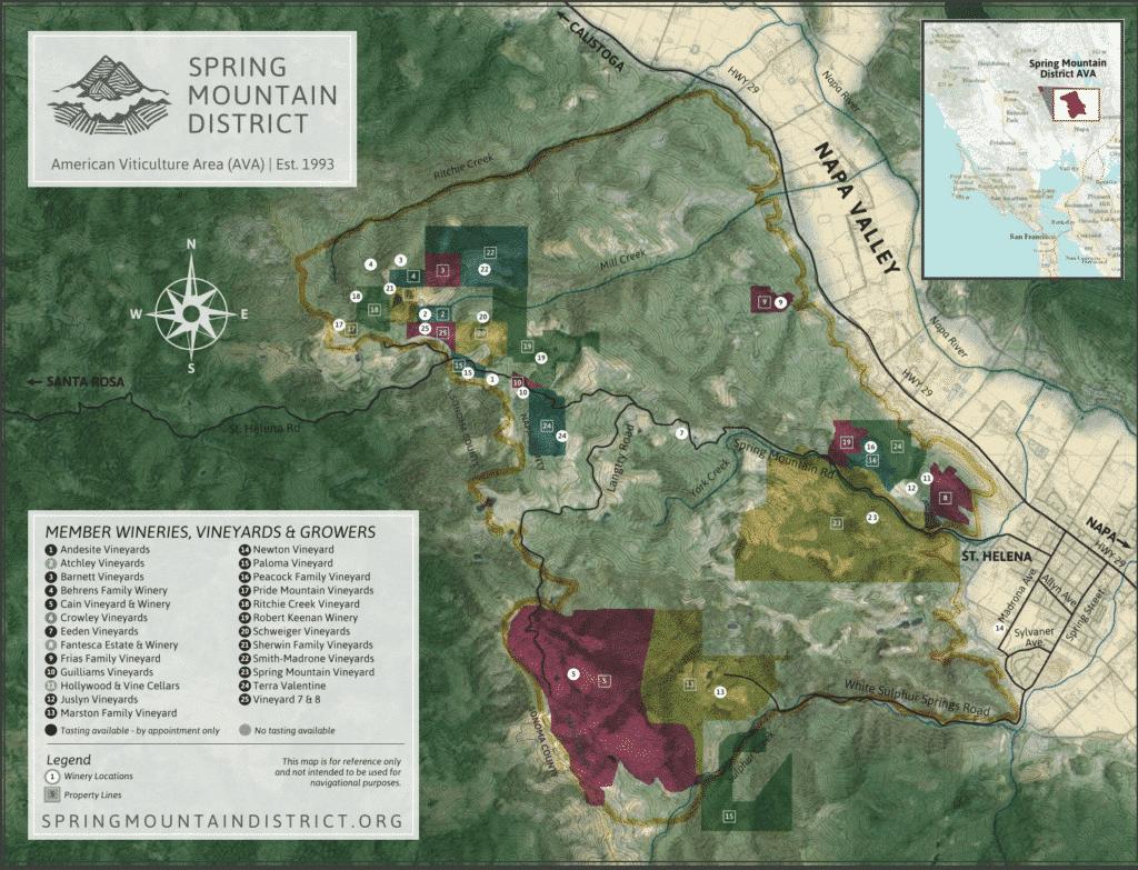 Spring Mountain Map